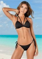 strappy push up bikini top
