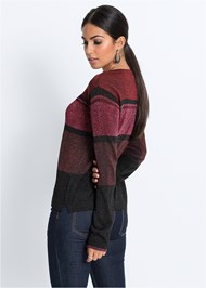 Alternate View Color Block Sweater