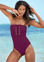 grommet lace up one-piece