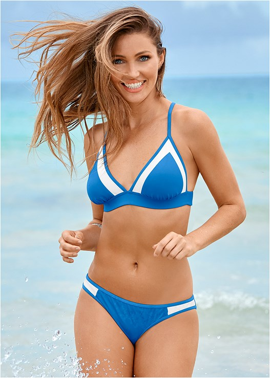 LOW RISE BOTTOM,TRIANGLE BIKINI TOP,CROSS BACK SPORT TOP,CONTOUR HALTER,HIGH WAIST FULL CUT BOTTOM