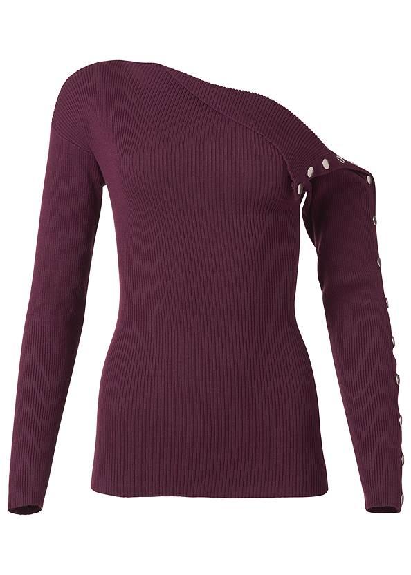 Alternate View Snap Detail Sweater
