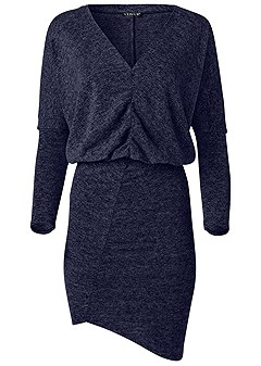 plus size v neck sweater dress