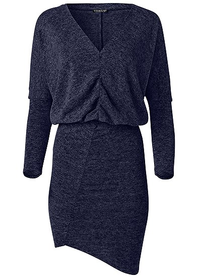 Plus Size V-Neck Sweater Dress