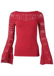 Alternate View Crochet Detail Sweater