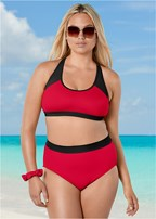 plus size volley high waist bottom