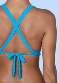 Alternate View Ribbed Triangle Bikini Top