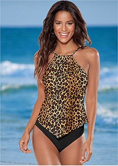 high neck tankini top