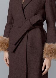 Alternate View Faux Fur Cuff Coat