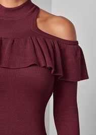 Alternate View Ruffle Detail Sweater
