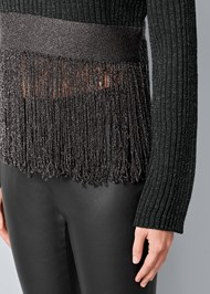 Alternate View Lurex Fringe Sweater