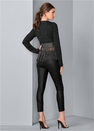 Back View Lurex Fringe Sweater