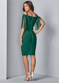 Back View Bandage Fringe Dress