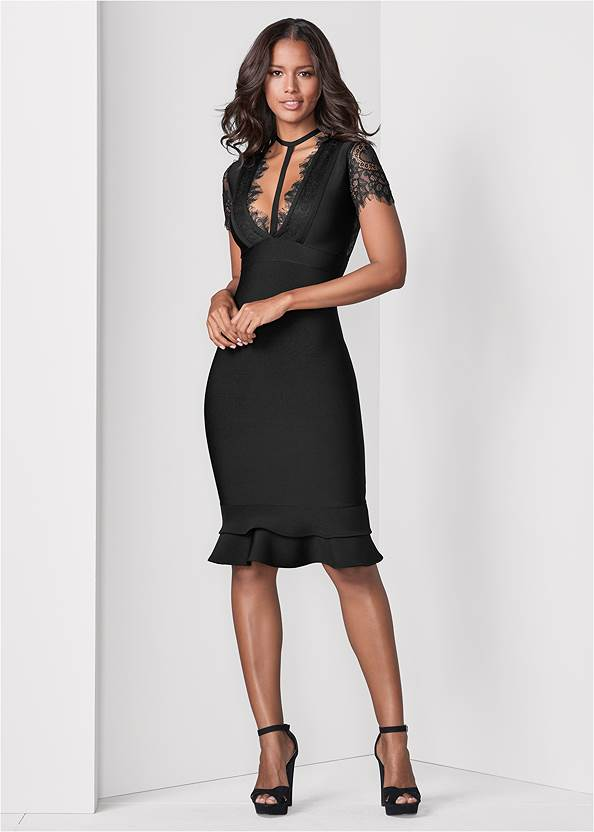 Front View Bandage Strappy Dress
