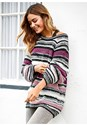 Front View Oversized Striped Sweater