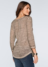 Back View Crochet Button Henley