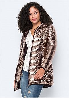 metallic long jacket