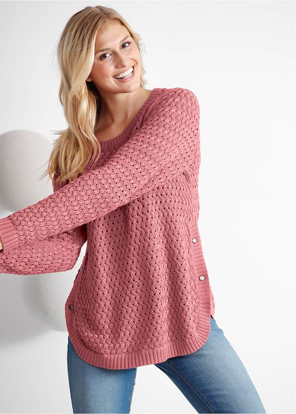Button Detail Sweater,Basic Cami Two Pack,Ripped Skinny Jeans,Lace Up Tall Boots
