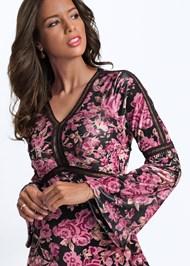 Alternate View Floral Velvet Dress