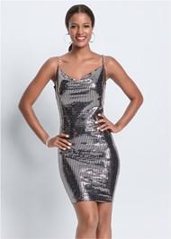 Front View Metallic Dress