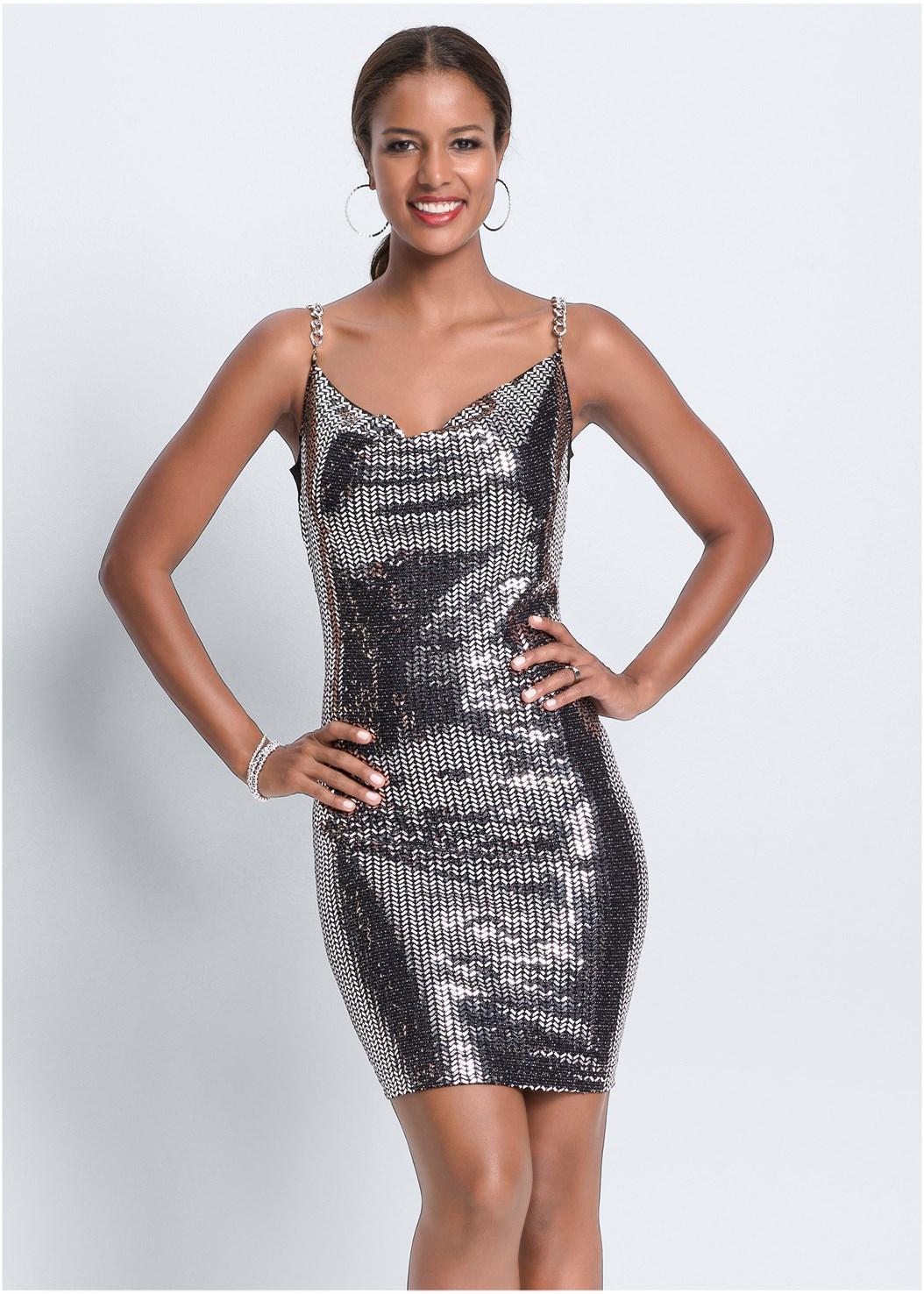 Metallic Dress,Smooth Longline Push Up Bra