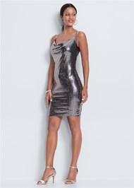 Alternate View Metallic Dress