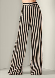Front View High Waisted Stripe Pant
