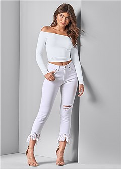 frayed ripped jeans