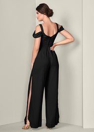 Alternate View Cold Shoulder Jumpsuit