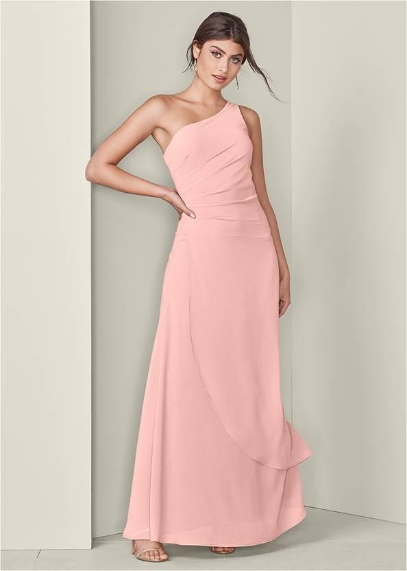 Overlay Detail Dress,High Heel Strappy Sandals