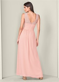 Alternate View Mesh Sweetheart Long Dress