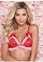 Front View Bow And Ruffle Bralette