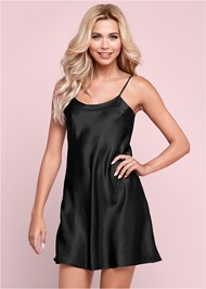 Front View Luster Satin Slip