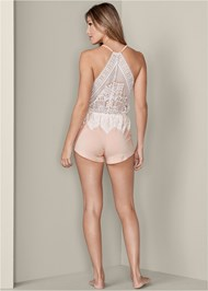 Back View Lace Detail Sleep Romper