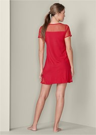 Back View Mesh Inset Sleep Dress