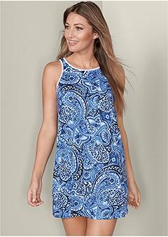 paisley print sleep dress
