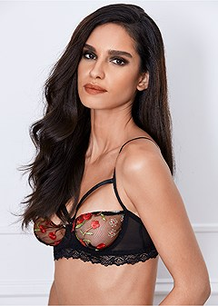 embroidered unlined bra