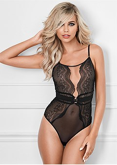 5685599c8 Black ILLUSION MESH BODYSUIT from VENUS
