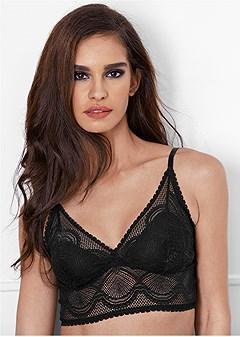 longline lace bralette