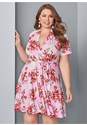 Front View Surplice Floral Dress
