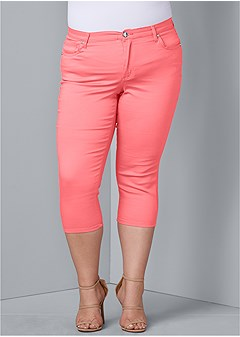 2e8e5f00e8 plus size color capri jeans