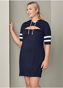 plus size cut out detail dress