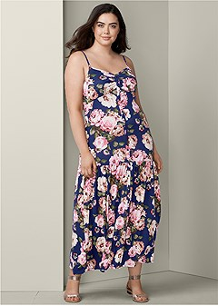 3f298d84884 plus size button front maxi dress