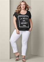 plus size love print top