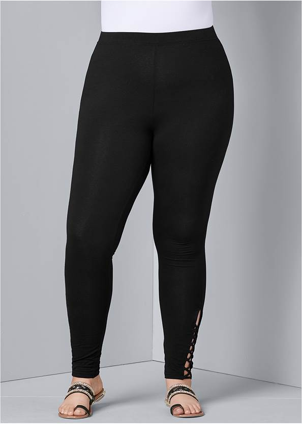 Front View Ankle Detail Leggings