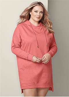 plus size cozy sweatshirt dress