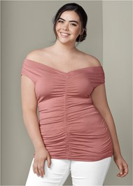 Plus Size Ruched Detail Top