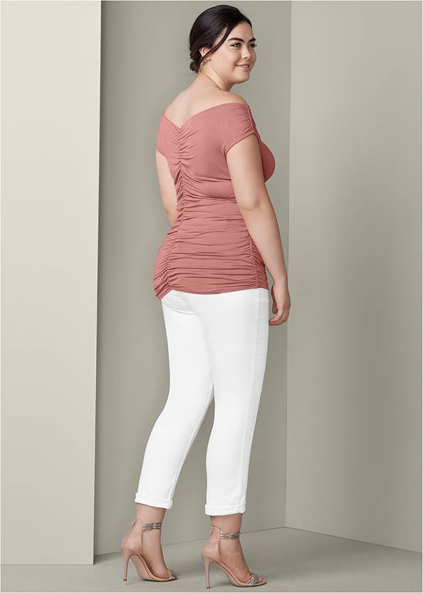 Back View Ruched Detail Top