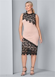 Front View Lace Detail Dress