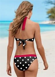 Back View Underwire Halter Bikini Top