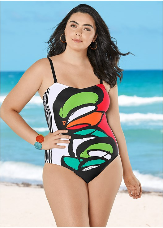 GRAPHIC PRINT ONE-PIECE